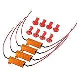 XCSOURCE 4Pcs 50W 6ohm Load Resistors Turn Signal Canbus Error Free Fix LED Bulb Fast Hyper Flash Turn Signal Blink Error Code MA960