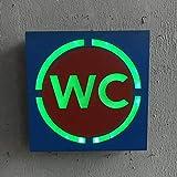HEMIYUAN Luce notturnaWIFI bagno VIP indicatore non fumatori insegna al neon tubo al neon in vetro negozio bar famiglia business party LED insegna al neon luce, D