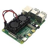 Sponsi Per Raspberry Pi 4 Modello B Case 5V 3.3V con Dissipatore di Calore della Ventola di Raffreddamento