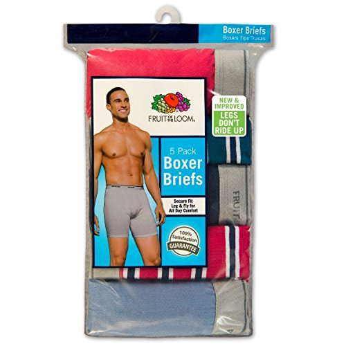 Fruit of the Loom Herren Ringer style Boxer Slip Porzellanperlen Stripes/Solid Asst