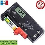 TAKIT Tester Batterie Digital Per AA, AAA, C, D, PP3, 9V, 1.5V, Batterie a Bottone - 5 Anni Di Garanzia