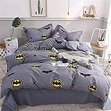 motivo: Batman DC Comics Oeko-Tex federa da 63 x 63 cm in microfibra Parure da letto con copripiumino reversibile da 140 x 200 cm