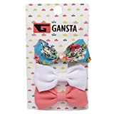 #5: Gansta Imported Set of 3 Pc Hair Clips for Baby Girls & Teenager Girls