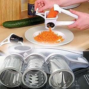 Râpe à fromage rotative avec 3 lames de percussions en acier inoxydable