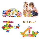 #7: 96Pcs/Set Plastic Building Bricks Mixed Colour Kids Model Building Toy - Bricks Block Educational Toy