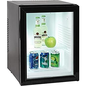 Minibar kleiner Mini Kühlschrank mit Glastür für Getränke 40 Liter ...