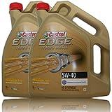 Castrol Edge Titanium FSTTM Turbo Diesel Aceite de motor, 2 garrafas de 5 litros, 10 litros, 5W-40, incluye etiqueta de cambios de aceite, especificaciones: ACEA C3; API SN/CF; VW 502 00/ 505 00 / 505 01; BMW Lon
