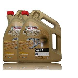 Castrol Edge Titanium FSTTM 5W-40 Lot de 2 bidons d'huile moteur avec étiquette de vidange d'huile incluse Spécifications/homologations ACEA C3; API SN/CF; VW 502 00/ 505 00 / 505 01; BMW Lon 5l (total 10 l) pas cher