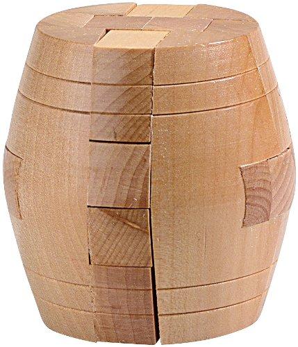 """Playtastic Holzspielzeug: Geduldspiel """"Fass"""" aus Holz (Knobelspiel Holz)"""