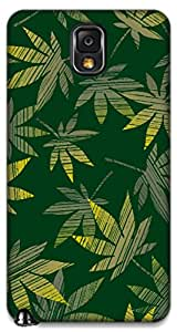 The Racoon Grip printed designer hard back mobile phone case cover for Samsung Galaxy Note 3. (Green Gras)