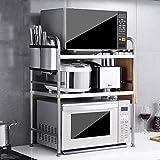 LXY Edelstahl-Küchenregale Mikrowelle Zwei Oder Drei Stock Nach Hause Landung Backofen Rack Küche Lagerregal Küchenregal
