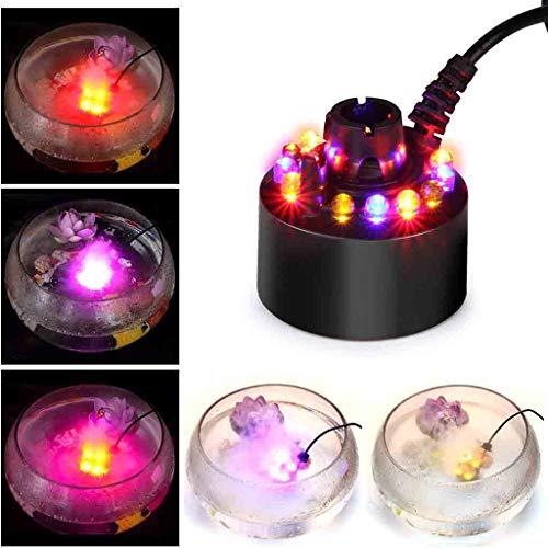 Flnfdsm 12 LED Ultraschall Nebler Hersteller LED Nebel Nebelmaschine Zerstäuber Diffuser Mist Maker Geeignet Für Luftbefeuchter, Für Halloween, Party