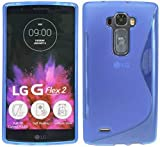 ENERGMiX S-Line TPU SchutzHülle kompatibel mit LG G Flex 2 (H955) Silikon Bumper Hülle Schale Tasche Cover in Blau