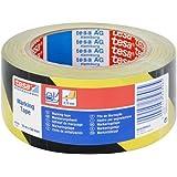 Tesa - Cinta adhesiva de seguridad (50 mm x 33 m), color negro y amarillo