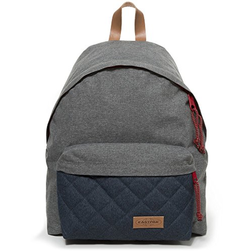 Eastpak Padded Pakr Polyamide,Polyester Blue,Brown,Grey,Red backpack - Backpacks (Polyamide, Polyester, Blue, Brown, Grey, Red, Monotone, 35.6 cm (14), Front pocket, Zipper) Blue, Brown, Grey, Red