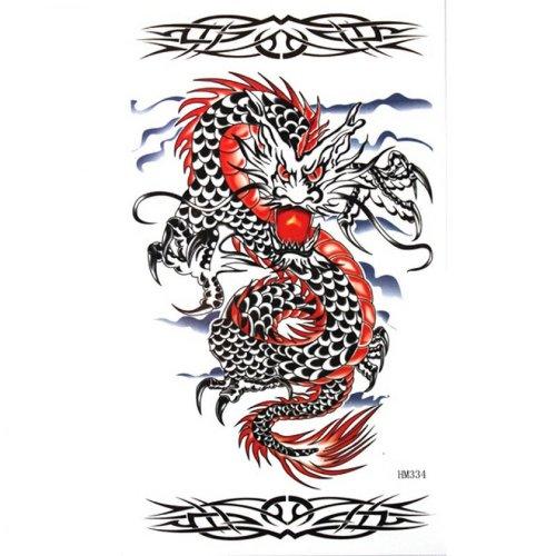 Étanche faux tatouages de dragon élégant sexy