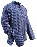 Multi Farben Mix dharke Streifen leicht bequem langärmlig traditionell Opa Hemd, Hippy Boho , S M L XL XXL XXXL - lila Mischung, XX-Large