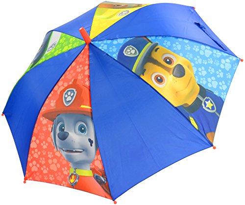 Paw Patrol Rubble Chase, Marshall und Rocky – Nylon - 0122004 Kinderregenschirm, Durchmesser : 80 m, Blau