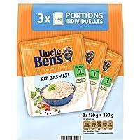 Uncle Ben's - Express Riz Basmati Cuisson en 1 Minute Les 3 packs de 130g, soit 390g - Prix Unitaire - Livraison...