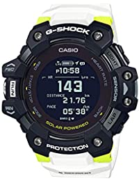 Casio G-shock White Dial Smartwatch G-squad Series for Men with Heart Rate Monitor + Gps Fuction + Solar Powered - GBD-H1000-1A7DR (G1035)