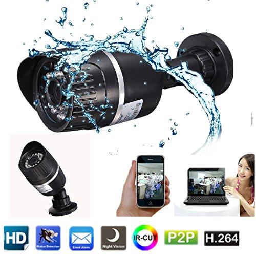 INSMA 720P Videocamera/telecamera di sicurezza impermeabile ad alta risoluzione visione notturna supportabile da pc smartphone (Sicurezza e sistemi di sorveglianza)