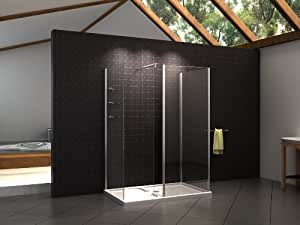 walk in dusche duschkabine aus esg sicherheitsglas inkl. Black Bedroom Furniture Sets. Home Design Ideas