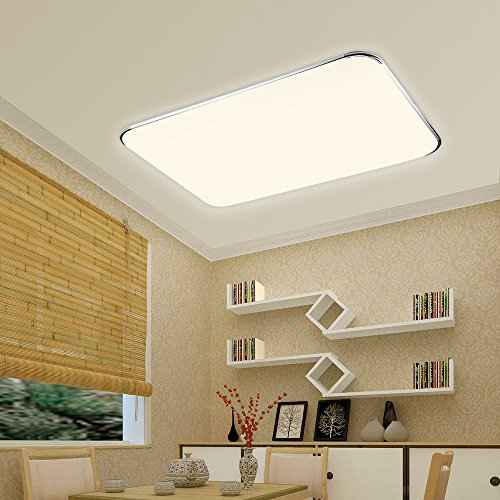 HG® 96W LED Deckenleuchte Kinderzimmer Innenleuchte Wohnzimmer Warmweiß Energiespar IP44 Deckenbeleuchtung