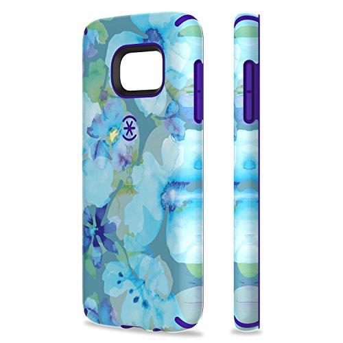 Speck 73804-5376 Inked CandyShell harte Schutzhülle für Apple iPhone 6/6S Plus 13,97 cm 5,5 Zoll) pineapple pac/knight lila floral blau/ultraviolett lila