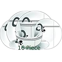 Streetwize Melamine Set 16 Pieces Abstract - LWACC235