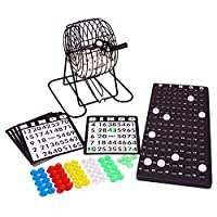 Otto-Simon-6103053-Bingo-Spiel-Metall-Bingotrommel Denny International Bingo Lotto Lotto Drum Unit Bingo Spiel und viel Zubehör -