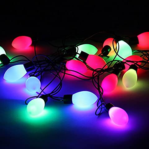 Nene decorativa colgante Iluminación LED String Lights Christmas Tree con colgantes de corazones Lamp Black Lantern