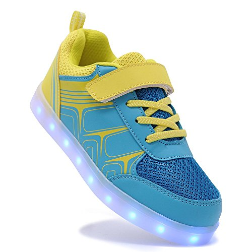 HUSK'SWARE Baskets 7 Couleurs LED Chaussures Lumineuses Jaune