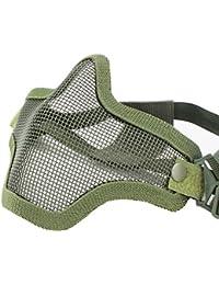 Coxeer Metal Acero Airsoft Máscaras Wargame Protección del Equipo (dos cinturón verde)