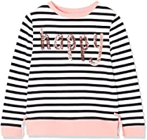 RED WAGON Girl's 'Happy' Sweatshirt, White (Weiß), 5 Years