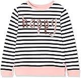 RED WAGON Mädchen Sweatshirt mit Streifen und Slogan, Weiß, 146 (Herstellergröße: 11 Jahre)
