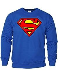 Hommes Dames Garçons Filles unisexe SuperMan Pull à capuche Sweat shirt pull molletonné occasionnel Jumper Sport XS SML XL beaucoup de couleurs et tailles
