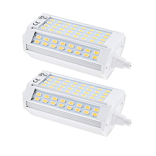 Zwei-lampe Flutlicht (Bonlux 25W R7s LED Lampe 118MM Flutlicht Warmweiß 3000K 200 Grad zweiseitige Enden Einbauleuchten J118 Ersatz für Halogenbirne (2-Stück, Nicht dimmbar))
