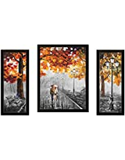Saf Watercolor Set Of 3 Modern Art 9205 Painting