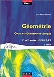 Cours de mathématiques, tome 7 - Géométrie, cours et 400 exercices corrigés : 1re et 2e années MP, PSI, PC, PT