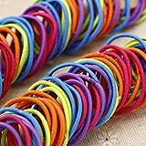 ZHOUBA Haargummi, elastisch, verschiedene Farben, 100 Stück