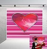 BuEnn 6x6ft Rosa Gestreifte Rote Liebe Valentinstag Fotografie Hintergrund Geburtstagsfeier für Mädchen Baby Shower Hochzeit Dessert Tischdeko Stand
