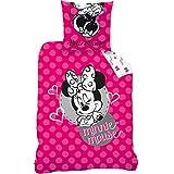 Disney Minnie 044851 New Shoes rosa Bettwäsche, Baumwolle, Mehrfarbig, 135 x 200 cm