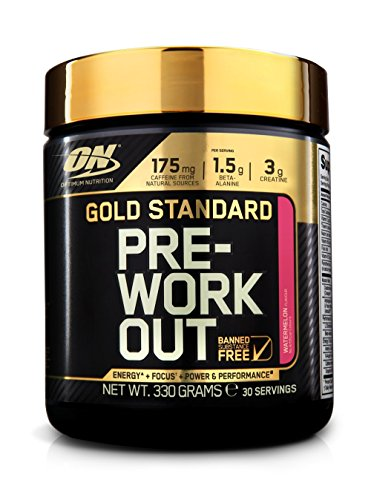 Optimum Nutrition Gold Standard Pre-Workout Pre-Entreno, Sandía - 330 g