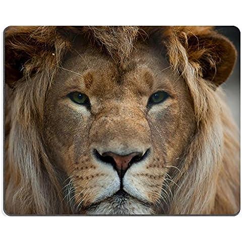 Liili Mouse Pad-Tappetino per Mouse in gomma naturale con ID 17871840 immagine: primo piano di testa di leone