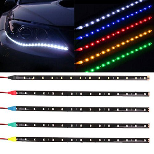 Sedeta-Auto-Dekor-LED-Licht-30cm-5050-SMD-LED-flexible-Streifen-Licht-6-Farbe-Optional