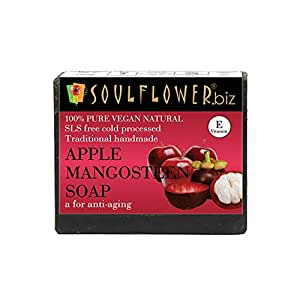 Soulflower Handmade Soap, Apple and Mangosteen, 150g