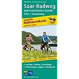 Radwanderkarte Saar-Radweg und französische Kanäle, Konz - Strasbourg: Mit Ausflugszielen, Einkehr- & Freizeittipps, wetterfest, reißfest, abwischbar, GPS-genau. 1:50000