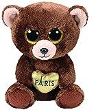 Ty ty36863–Beanie–Boo 's–Oso de Peluche Marrón–Paris