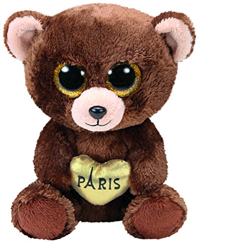 Beanie Boo Bear - Paris - Brown -  15cm 6""