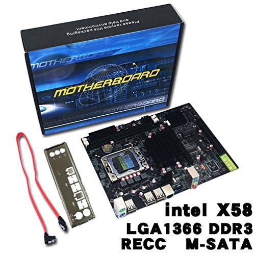 Olvido Motherboard, Intel X58 Desktop-Computer Hauptplatine X58 Board LGA 1366 Pin ECC Alle Solid Motherboard Unterst¨¹Tzung L/E5520 X5650